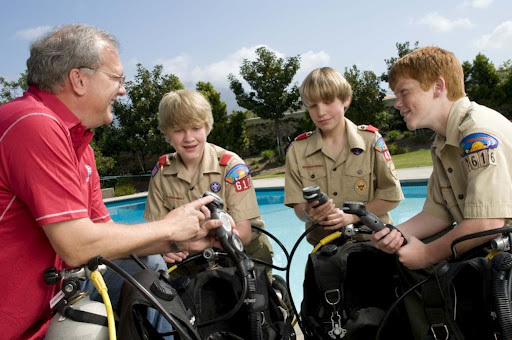 Boy Scouts Scuba Diving